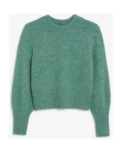 Вязаный свитер - зеленый Monki