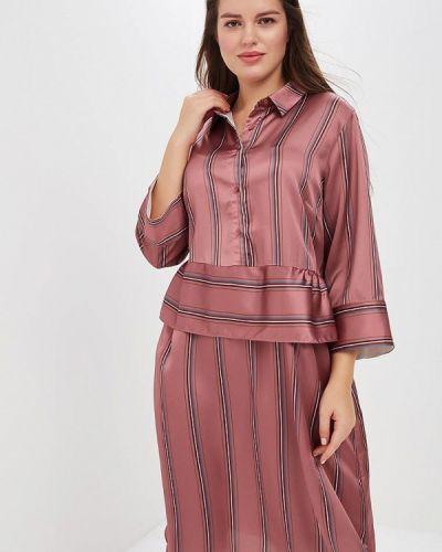 Повседневное платье осеннее розовое Lost Ink Plus