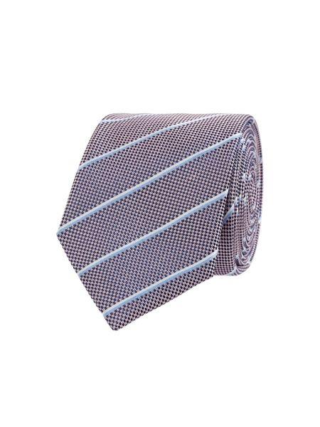 Klasyczny różowy krawat w paski Christian Berg Men