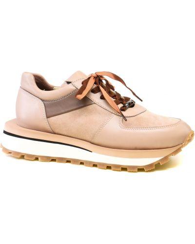 Кожаные кроссовки - бежевые Alex Bell