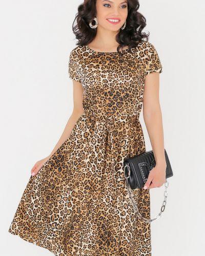 Летнее платье леопардовое платье-сарафан Dstrend