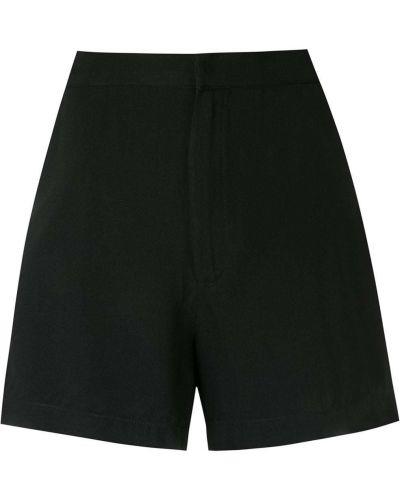 Черные шорты с завышенной талией Osklen