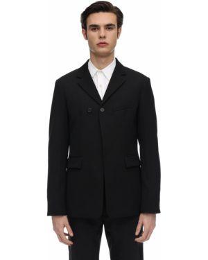 Czarna kurtka wełniana Rochas
