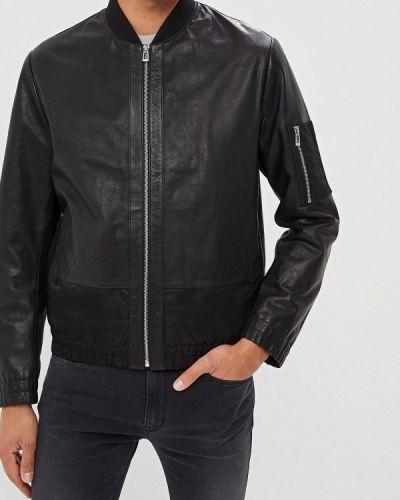 Кожаная куртка черная осенняя Hugo Hugo Boss