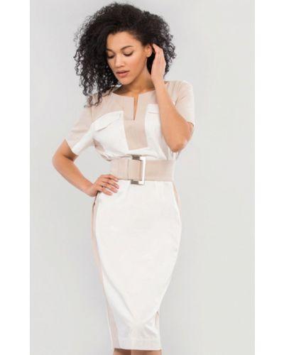 Белое платье-футляр Maxa