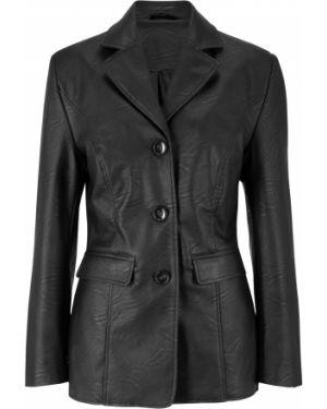 Пиджак черный кожаный Bonprix