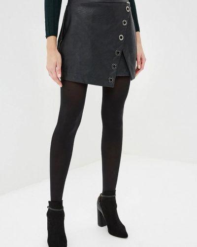 Кожаная юбка черная итальянский Hellen Barrett