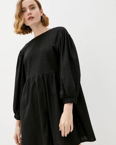 Черное прямое платье Vivostyle
