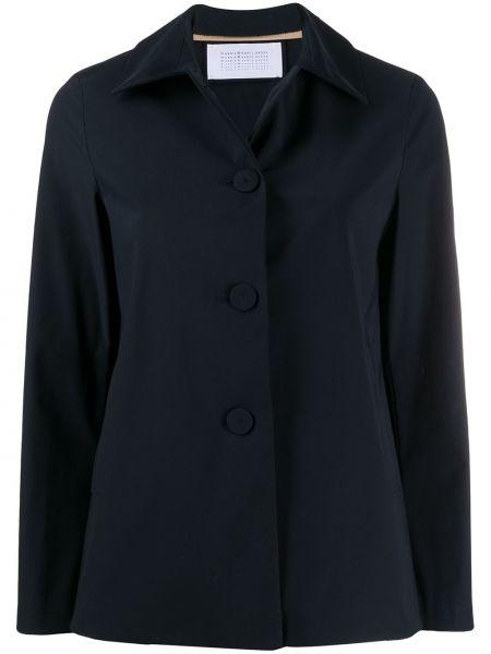 Прямая синяя длинная куртка Harris Wharf London