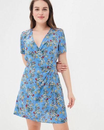 Синее платье Violeta By Mango