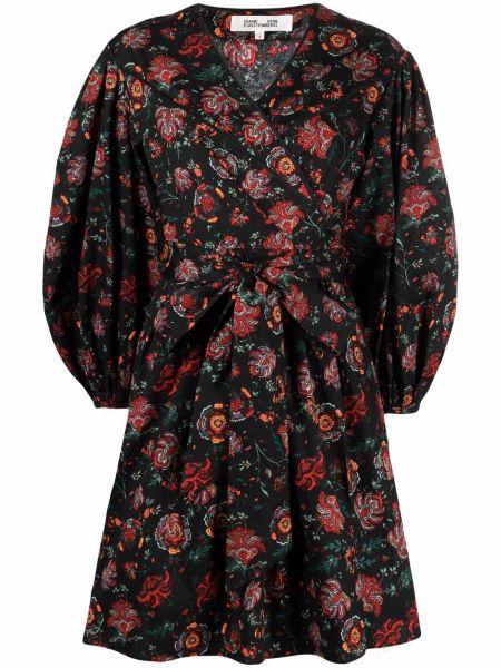Czarna sukienka bawełniana Dvf Diane Von Furstenberg