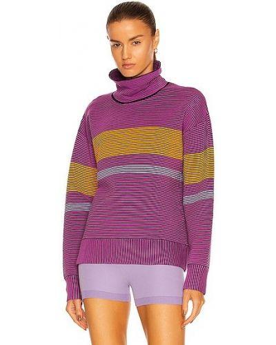 Fioletowy sweter bawełniany Nagnata