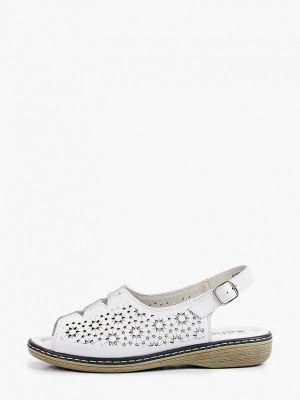 Белые кожаные сандалии Makfine