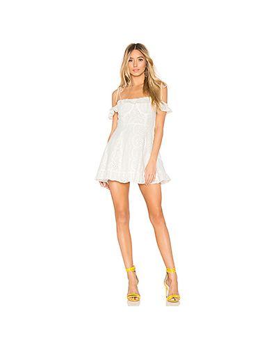 Платье мини с вышивкой с декольте Lovers + Friends