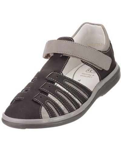 Брендовые черные кожаные сандалии топ-топ