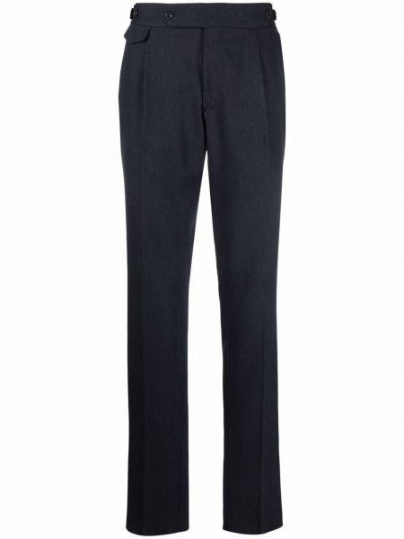 Niebieskie spodnie wełniane Lardini