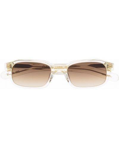 Złote okulary transparentne Flatlist