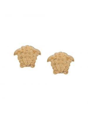 Золотистые желтые серьги металлические Versace