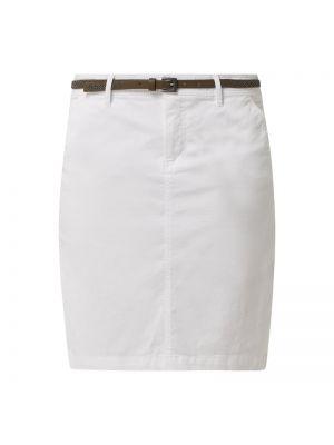 Spódnica ołówkowa bawełniana - biała Montego
