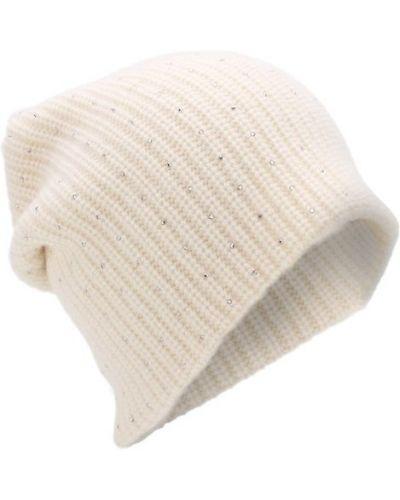 Вязаная шапка со стразами кашемировая William Sharp