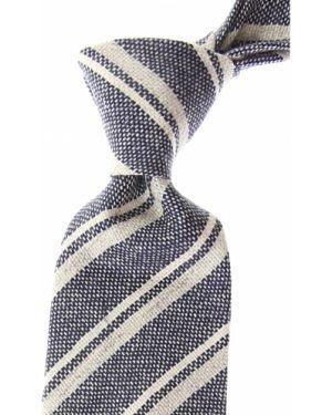 Szary krawat bawełniany Borrelli