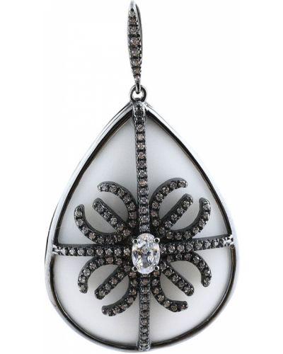 Белая серебряная подвеска Jewelry Box