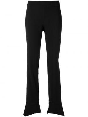 Брючные черные расклешенные свободные брюки Adriana Degreas