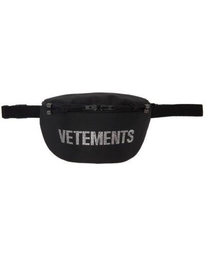 Czarna torebka bawełniana Vetements