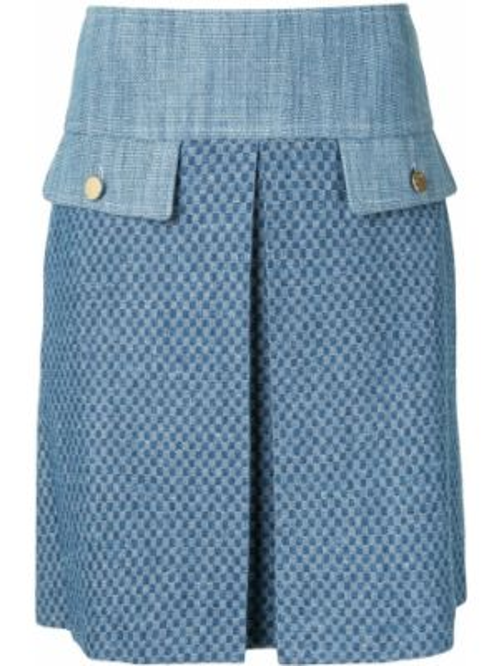 Юбка мини твидовая с карманами Paule Ka