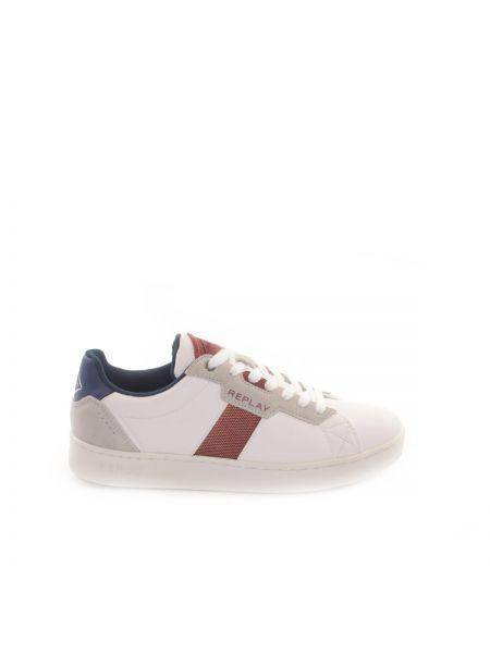 Białe buty sportowe skorzane Replay