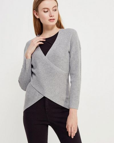 Серый пуловер 2018 Topshop