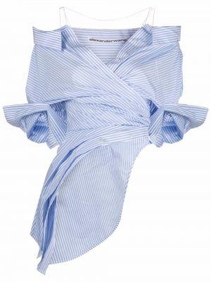 Koszula z printem - niebieska Alexander Wang