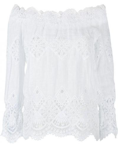 Блузка с длинным рукавом кружевная в полоску Temptation Positano
