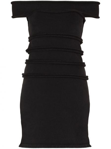 Sukienka bawełniana - czarna Alexander Wang