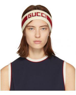 Opaska na głowę na głowie biały Gucci