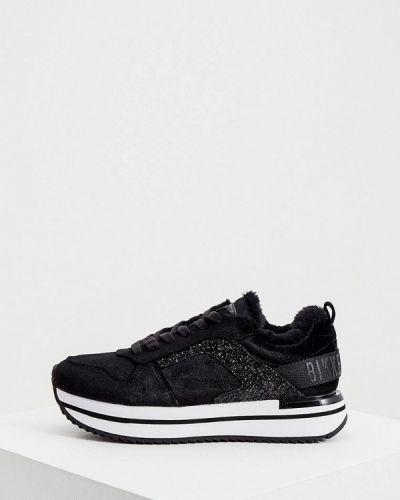 Бархатные черные кроссовки Bikkembergs
