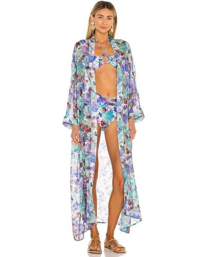 Пляжный халат - синий Patbo