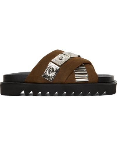 Sandały skórzane - khaki Toga Virilis