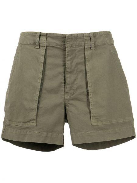 Зеленые хлопковые шорты с карманами Nili Lotan