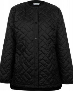 Спортивная теплая черная утепленная куртка Columbia