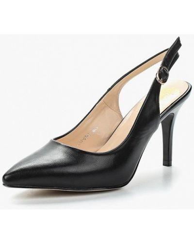 Черные кожаные туфли с открытой пяткой Inario