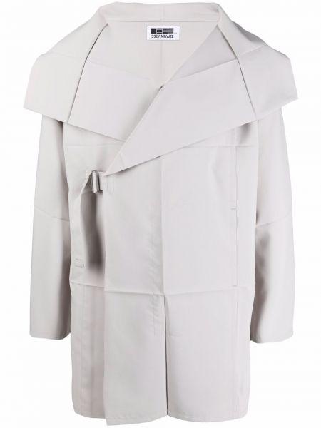 Długa kurtka materiałowa z długimi rękawami kopertowa 132 5. Issey Miyake