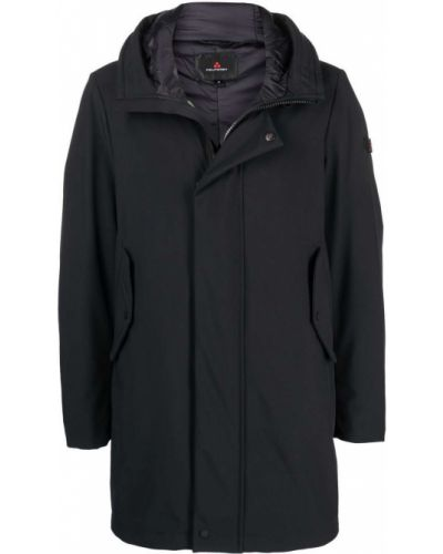 Черное прямое пальто Peuterey