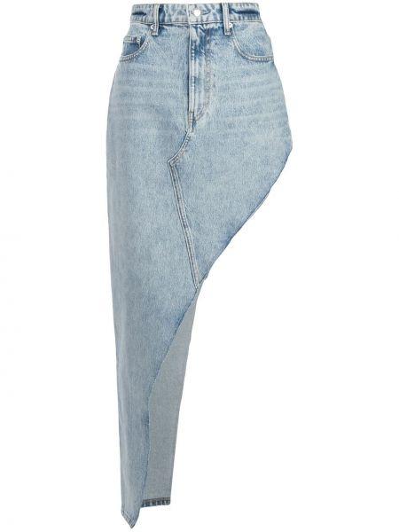 Джинсовая юбка с завышенной талией макси Alexander Wang