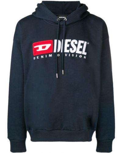 Толстовка с капюшоном с логотипом длинная Diesel