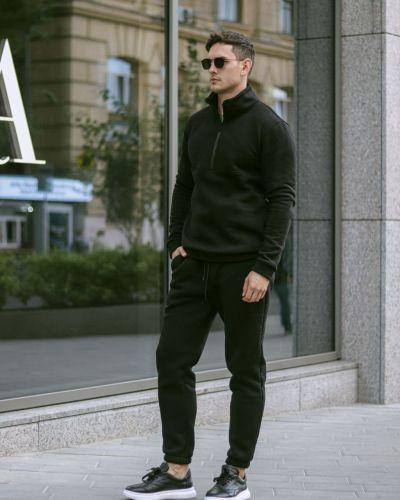 Теплый спортивный костюм - черный Rozetka