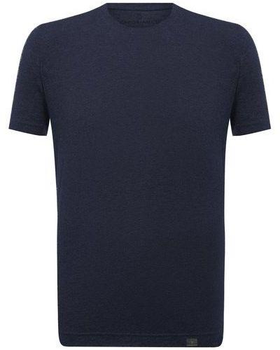 Синяя хлопковая футболка Capobianco