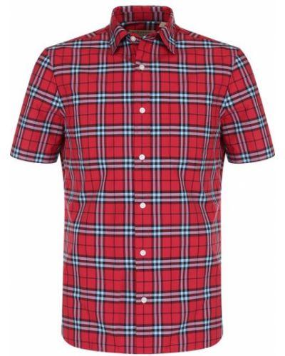 Рубашка с короткими рукавами в клетку джинсовая Burberry