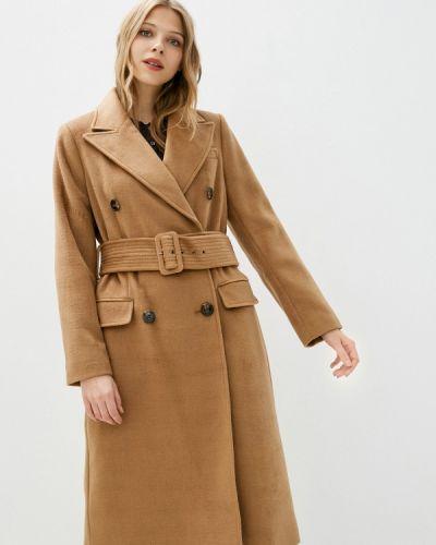 Бежевое пальто двубортное Marks & Spencer
