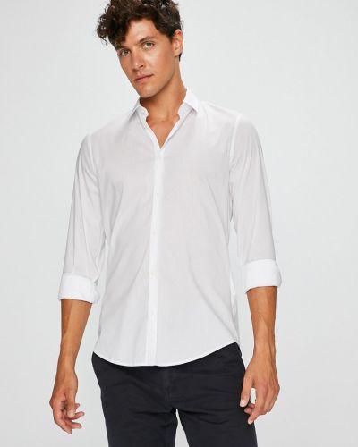 Рубашка с длинным рукавом однотонная хлопковая Trussardi Jeans